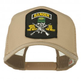 US Army Ranger Patched Mesh Back Cap - Khaki