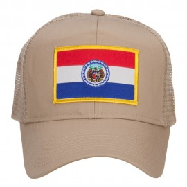 Missouri State Flag Patched Mesh Cap