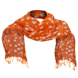 Cotton Scarf with Stars