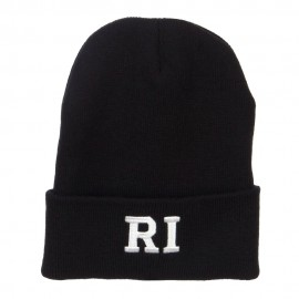 RI Rhode Island State Embroidered Long Beanie