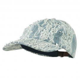 Rhinestone and Lace Baseball Cap