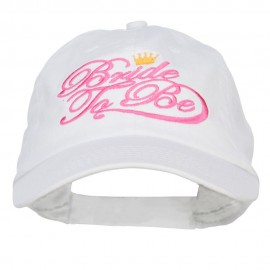 Bride To Be Embroidered Washed Ball Cap