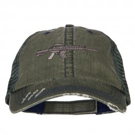 CAR-15 Rifle Embroidered Low Profile Mesh Cap