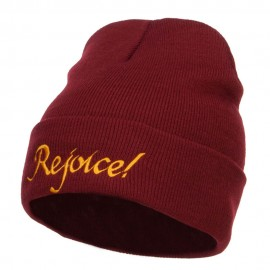Rejoice Embroidered Long Beanie