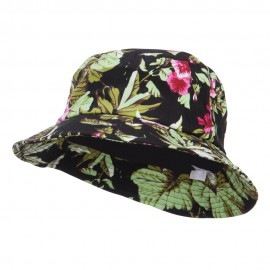 Floral Bucket Hat - Black