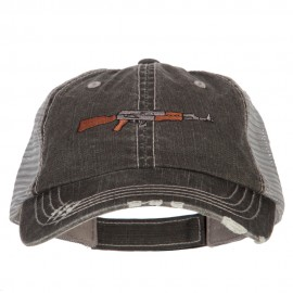AK-47 Rifle Embroidered Low Profile Mesh Cap