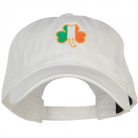 Ireland Shamrock Embroidered Washed Buckled Cap