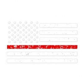 We Serve Red Line Flag Heat Transfers
