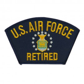 Big Size Retired Military Large Patch - Blue Air