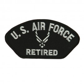 Big Size Retired Military Large Patch - Black Air