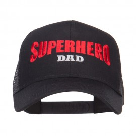 Superhero Dad Letters Embroidered Trucker Cap