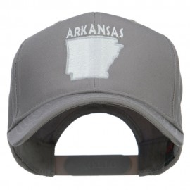 Arkansas State Map Embroidered Cap
