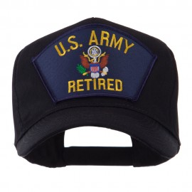 Retired Military Large Embroidered Patch Cap