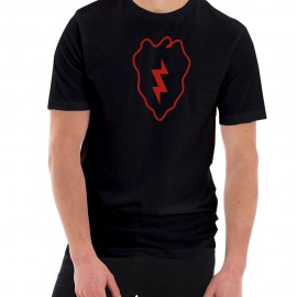 Army 25th Infantry Division Insignia Graphic Short Sleeve Jersey T-Shirt
