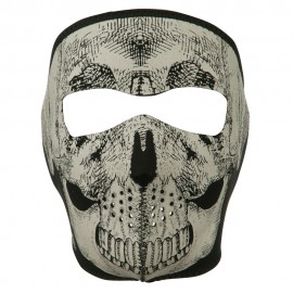 Reflective Neoprene Skull Mask