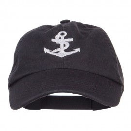 Anchor Logo Embroidered Low Cap - Black
