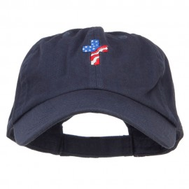 Cross Flag Embroidered Low Profile Dyed Cap
