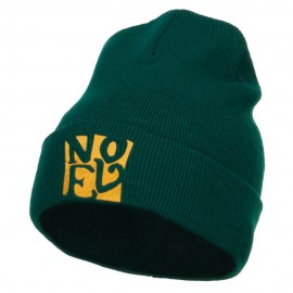 Christmas Noel Embroidered Long Beanie