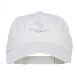 Anchor Logo Embroidered Low Cap - White