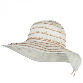 Women's Ribbon Paper Combo Hat
