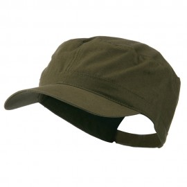 Big Size Adjustable Cotton Ripstop Army Cap - Olive