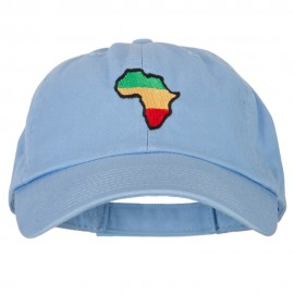 Rasta Africa Map Embroidered Low Profile Cotton Cap