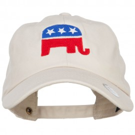 Republican Elephant USA Embroidered Unstructured Cap