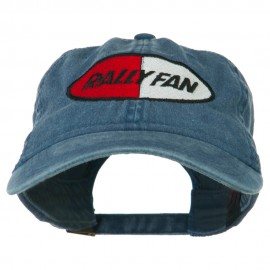 Rally Fan Race Badge Embroidered Washed Cap