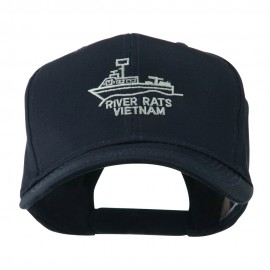River Rats Vietnam with Riverboat Embroidered Cap