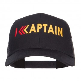 Captain Rank Logo Embroidered Mesh Cap