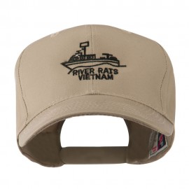 River Rats Vietnam with Riverboat Embroidered Cap - Khaki