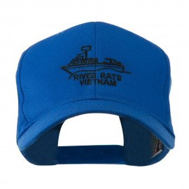River Rats Vietnam with Riverboat Embroidered Cap - Royal