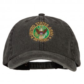 US Army Retired Circle Embroidered Big Size Washed Cap