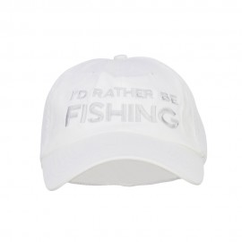 I'd Rather Be Fishing Embroidered Big Mesh Cap