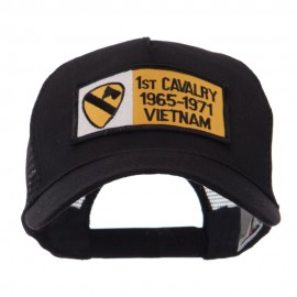 Army Rectangle Military Patched Mesh Cap