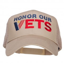 Honor Our Vets Embroidered Mesh Cap