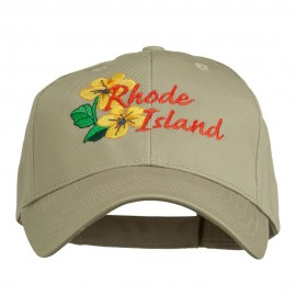 USA State Rhode Island Violet Embroidered Low Profile Cap