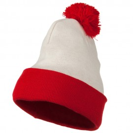 Red White Long Beanie - Waldo Costume