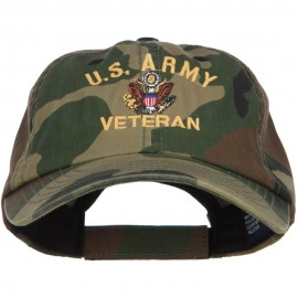 US Army Veteran Military Embroidered Enzyme Camo Cap