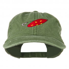 Fishing Red Walleye Lure Embroidered Washed Cap