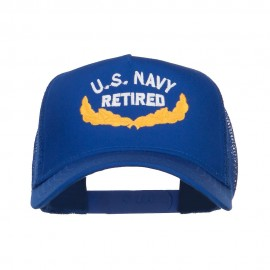 US Navy Retired Emblem Embroidered Mesh Cap