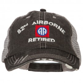 US Army 82nd Airborne Retired Embroidered Low Profile Cotton Mesh Cap
