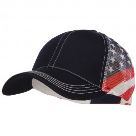 USA Flag Cotton Twill Mesh Cap
