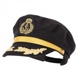 Adjustable Sailor Captain Hat with Side Gold Buttons