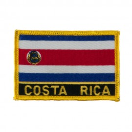 North and South America Flag Embroidered Patch - Costa Rica