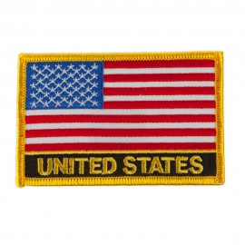 North and South America Flag Embroidered Patch - United States