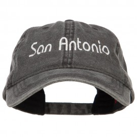 San Antonio Embroidered Washed Cap