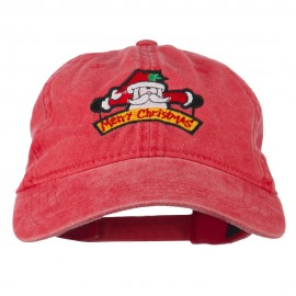 Merry Christmas Santa Claus Embroidered Cotton Cap