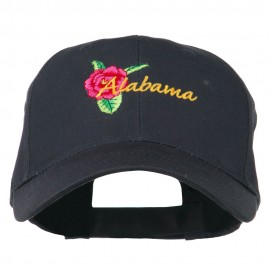 Alabama State Camellia Flower Embroidered Cap