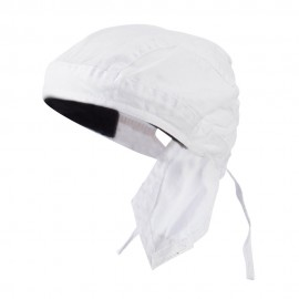 Sweat Band Head Wraps-Solid White